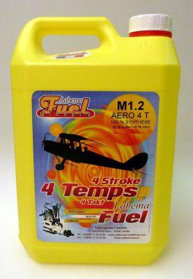 Carburant LABEMA aéro M1.2 10% nitro moteur 4T en bidon de 5L - M20