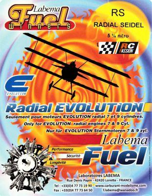 CARBURANT LABEMA RS : Radial pour moteurs type SEIDEL 5%