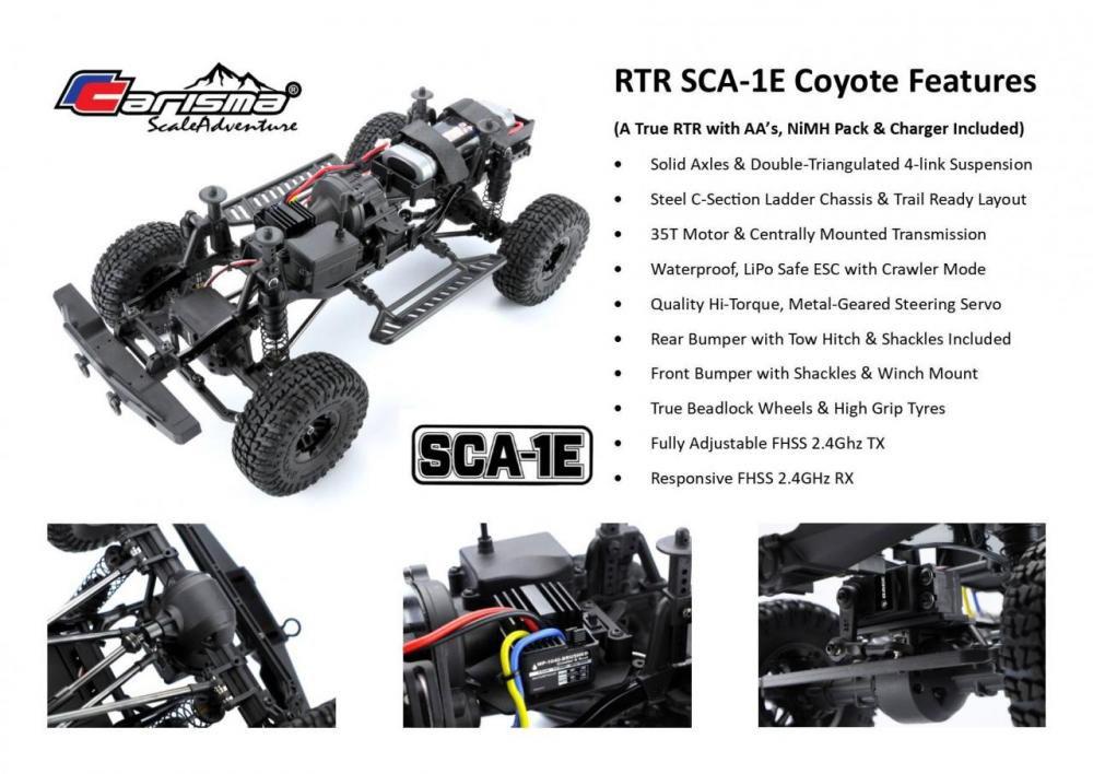 CARISMA Crawler 1/10ème SCA-1E Coyote (empattement 285mm) - CARI77768
