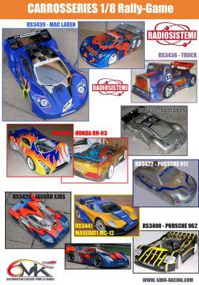 """Carrosserie 1/8 de MASERATI MC12 \""""Le Mans\"""" avec Aileron"""
