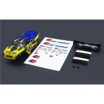 Carrosserie et aileron GT24TR Jaune/bleu