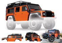 CARROSSERIE LAND ROVER DEFENDER ADVENTURE ORANGE PEINTE ET DECOREE - TRAXXAS TRX8011A