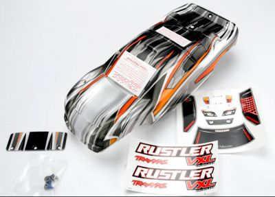 CARROSSERIE RUSTLER VXL PROGRAPHIX SEMI-DECOREE + AUTOCOLLANTS