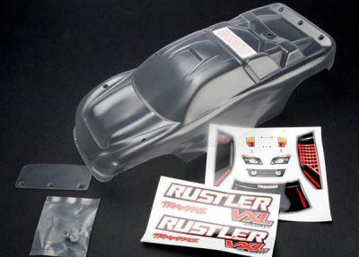 CARROSSERIE TRANSPARENTE RUSTLER + AUTOCOLLANTS