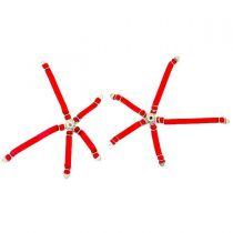 Ceinture de sécurité de siège baquet Rouge avec attache en métal pour Crawler - Hobbytech - HT-SU1801078
