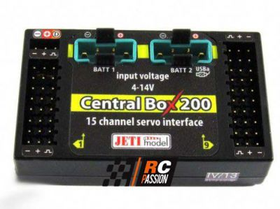 Central Box CB200 + 2 RSat2 + RC Switch JETI