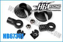 Chappes et coupelles d\'amortisseurs (2) - HB67351 - Pièce détachée HB Racing