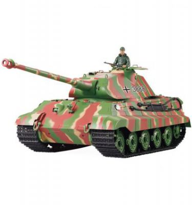 CHAR D\'ASSAUT RC 1/16 KING TIGER PORSCHE (BRUIT / FUMEE) - 2,4GHz 3888-1