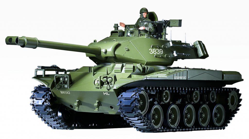 char d 39 assaut rc 1 16 m41a3 complet bruit fumee 2 4ghz. Black Bedroom Furniture Sets. Home Design Ideas