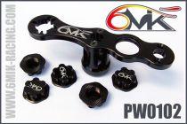 Clef à roue + 5 ecrous borgnes 6MIK noir