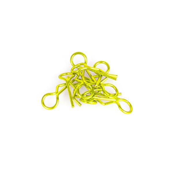 Clips de carrosserie 1 / 8eme jaune fluo (10pcs).