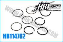 Clips et rondelles de couple conique HB 817 (4+4)