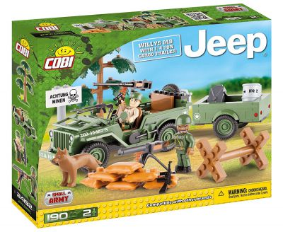 COBI 24192 - Jeep Willys avec remorque - 190 pièces - 2 figurines