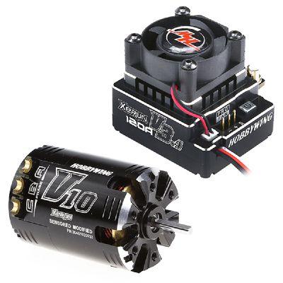 COMBO XERUN-V3B (Moteur V10-4.5T 7300kv + Vario 120 Amp V3.1 noir)