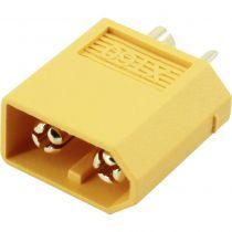 Connecteur XT-60 - contacts or - Mâle (unité) - haute qualité