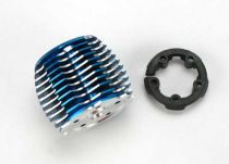 CULASSE POWER TUNE ALU ANODISEE BLEU + SUPPORT PLASTIQUE TRX 2.5/2.5R