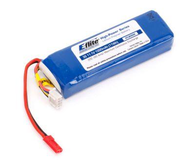 E-FLITE Accu Li-Po 1000mA 3S 11,1v 20C, prise JST - Référence: EFLB0998 remplacé par EFLB8003SJ