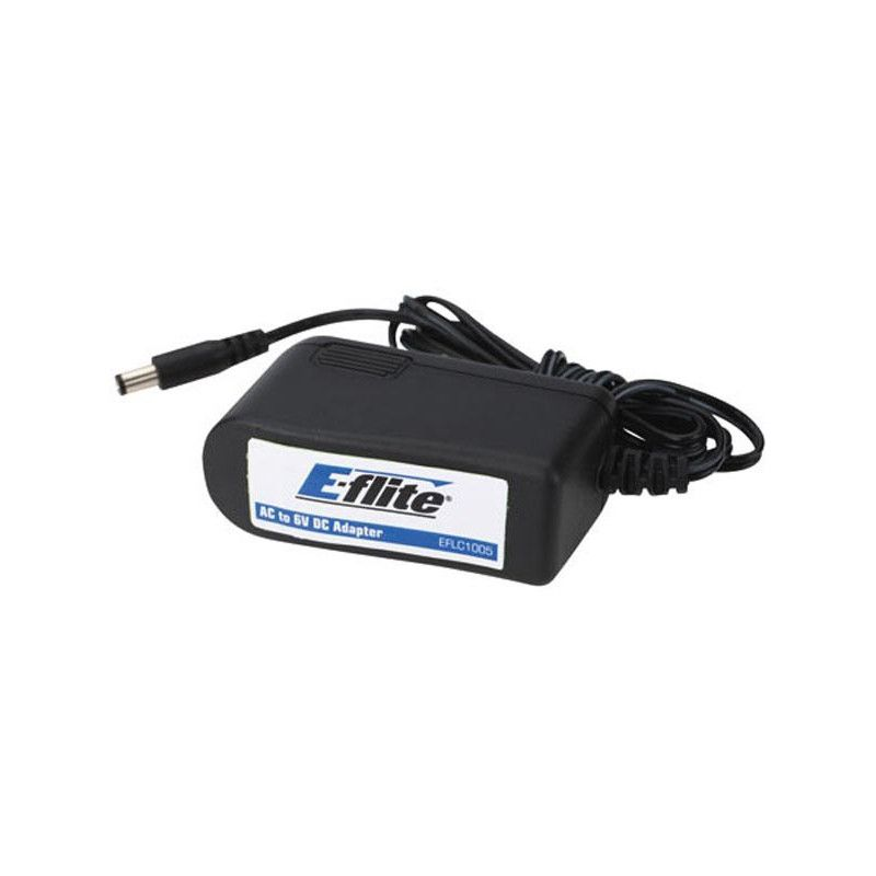 E-FLITE Alimentation 6V, 1.5 Amp AC/DC, EU - HORIZON HOBBY - Référence: EFLC1005EU