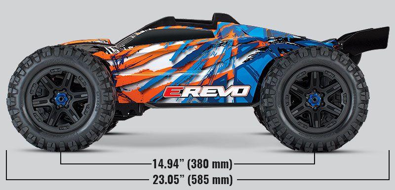 E-REVO 2 6S - 4x4 - 1/10 BRUSHLESS - VXL TSM TQI ID - SANS AQ/CHG - TRAXXAS - 86086-4