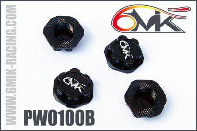 Ecrous de roues borgne 6MIK noir (4 pcs)