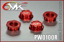 Ecrous de roues borgne 6MIK Rouge (4 pcs)