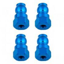 Fixations hautes d\'amortisseurs 12mm bleus (4) B6.1 - AS91816 - Pièce détachée Team Associated - 91816