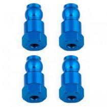 Fixations hautes d\'amortisseurs 14mm bleus (4) B6.1 - AS91817 - Pièce détachée Team Associated - 91817