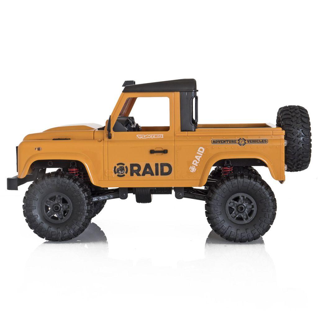 FTK-RAID2-YE - Crawler 1/12 Funtek 4x4 Raid version 2 jaune