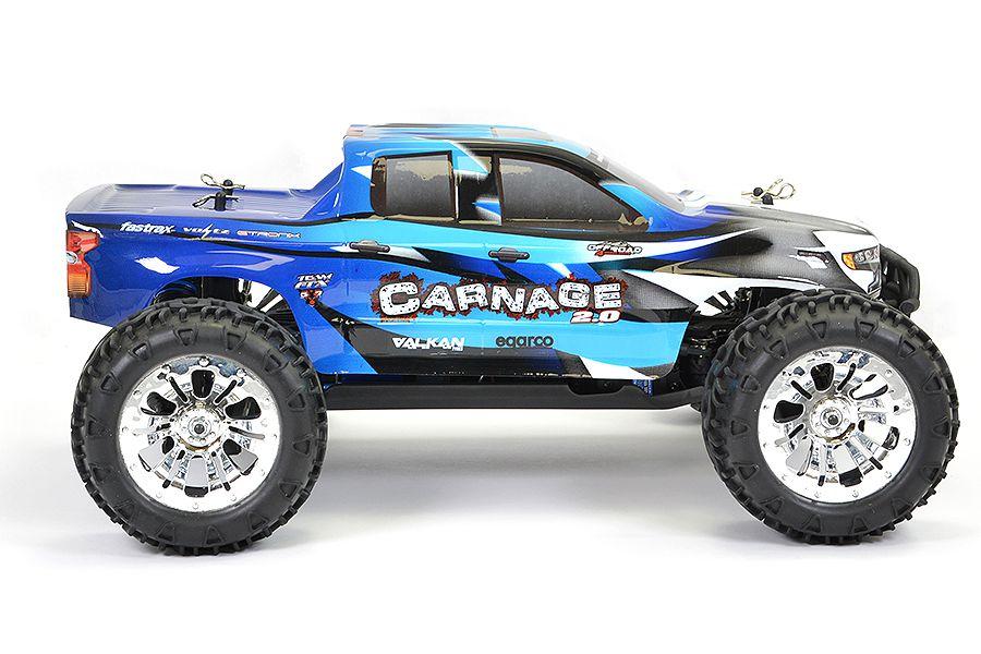 FTX CARNAGE 2.0 BRUSHED 1/10 4WD RTR BLEU - FTX5537B
