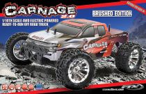 FTX CARNAGE 2.0 BRUSHED 1/10 4WD RTR BLEU - FTX5537B Rouge FTX5537R