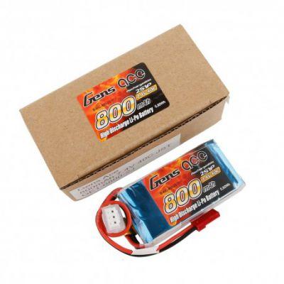 Gens ace Batterie LiPo 2S 7.4V-800-40C(JST) 61x30x15mm 48g GE1-0800-2J