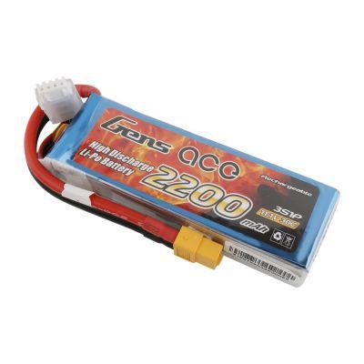 Gens ace Batterie LiPo 3S 11.1V-2200-30C(XT60) 108x33x22mm 175g