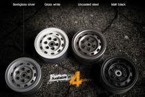 GMADE JANTES 1.9 SR02 BEADLOCK (noir mat) (la paire) - GM70174