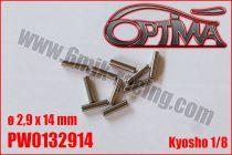 Goupilles de Cardans ø2,9 x 14mm - KYOSHO (10pcs)