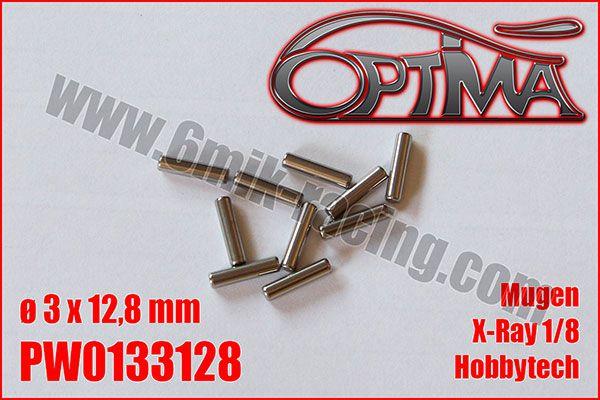 Goupilles de Cardans ø3 x 12,8mm -HB / XRay / MBX / Hobbytech (10pcs)
