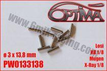 Goupilles de Cardans ø3 x 13,8mm HB / XRay / MBX / TLR / SVM (10pcs)