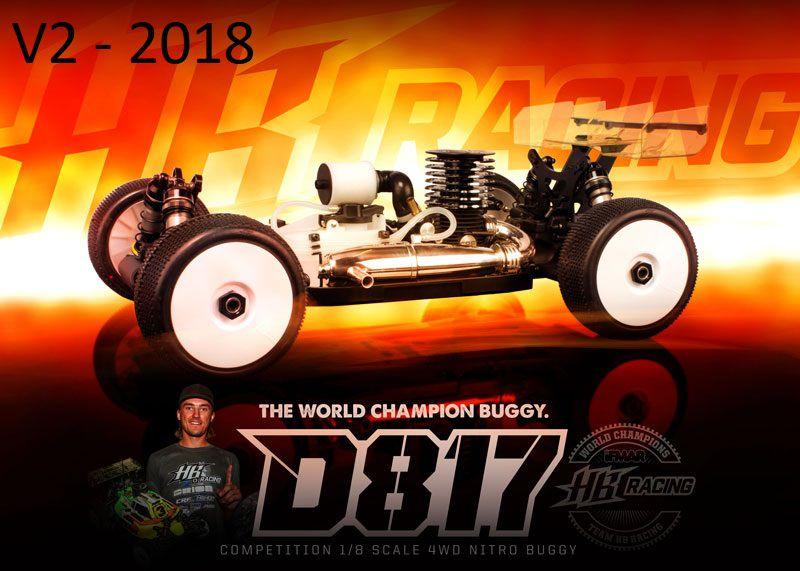 hb d817 v2 voiture 1 8 buggy thermique hb204272. Black Bedroom Furniture Sets. Home Design Ideas