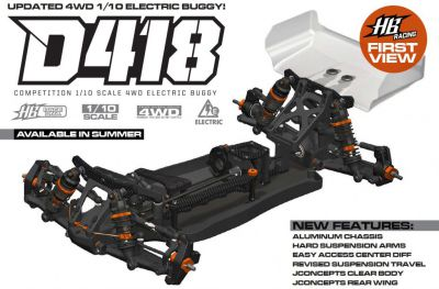 HB Racing D418 1/10 4WD Off-Road Buggy - HB204241