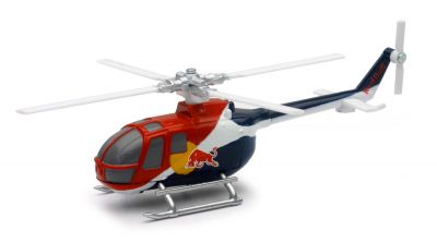 Hélicoptère BO 105C 1:100 - Red Bull - New Ray - 29853