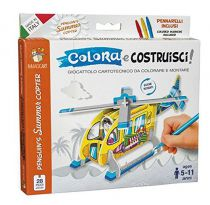 Hélicoptère en carton à colorier et à monter