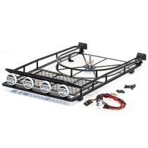 HobbyTech Galerie de toit acier avec SPOT Led AV/ARR.et support de roue de secours - HT-SU1801086
