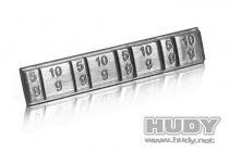 Hudy - barrette de poids autocollant pour lest 4x5g + 4x10g - 293080