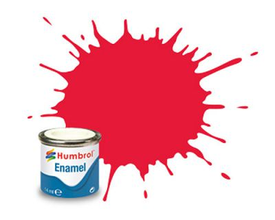 HUMBROL Enamel 238 Rouge Vif Brillant - Arrow Red Gloss 14ml - HU238