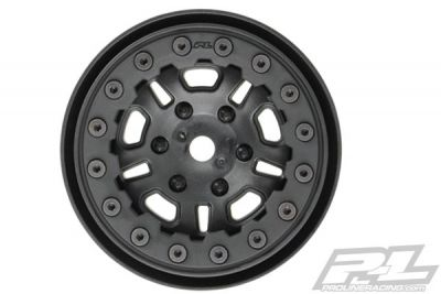 "JANTES PROLINE FAULTLINE 1.9"" BLACK/ BLACK BEADLOC 10 SPOKE WHEELS - PL2748-15"