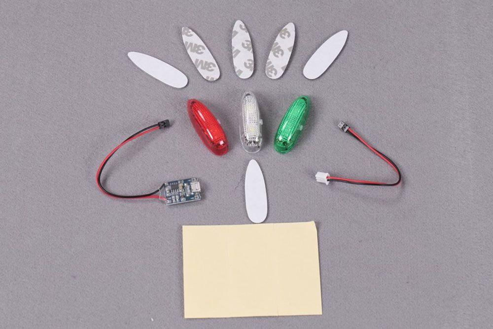 KIT DE 3 LUMIÈRES LEDS AUTONOMES (ROUGE/VERT/BLANC) FMS EASYLIGHT V2