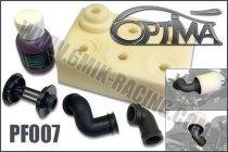 Kit de Filtre à air OPTIMA avec 2 coudes, 6 Mousses et Huile