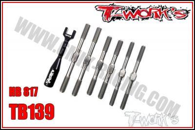 Kit de pas inverses en titane T-Work\'s pour HB E/D817