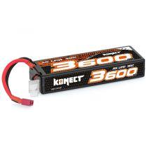 Konect Lipo 3600mah 11.1V 30C 3S1P 39.0Wh (Slim Pack Dean)