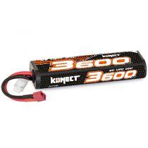 Konect Lipo 3600mah 7.4V 30C 2S1P 26.6Wh (Stick Pack Dean)