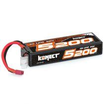 Konect Lipo 5200mah 7.4V 50C 2S1P 38.4Wh (Slim Pack Dean )